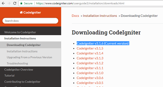 How to Install CodeIgniter Framework in Windows Operating System