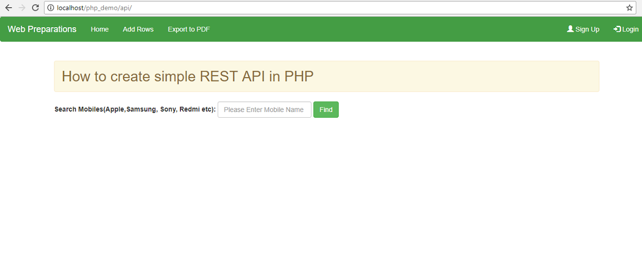 How to create simple REST API in PHP - Web Preparations