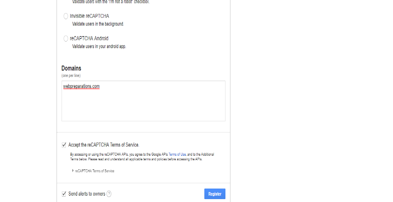 how-to-create-contact-form-in-php-using-google-recaptcha-step1