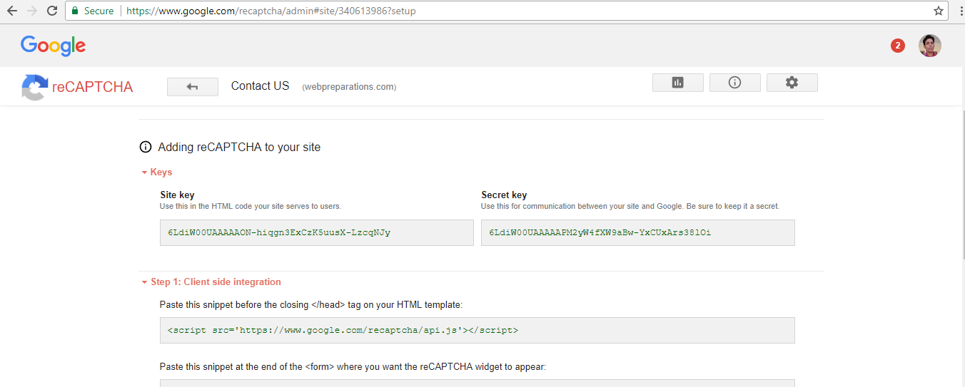 how-to-create-contact-form-in-php-using-google-recaptcha-step2