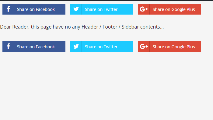WordPress Page without Header / Footer
