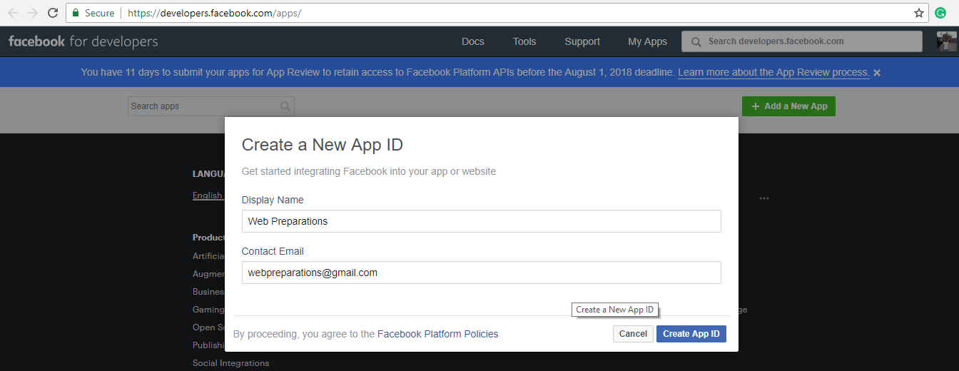 how-to-create-facebook-app-and-app-secret-step-2